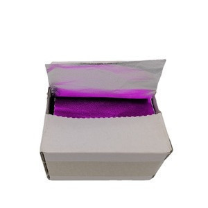 2020 embossed colored pre cut hair dressing salon foil sheet with folded