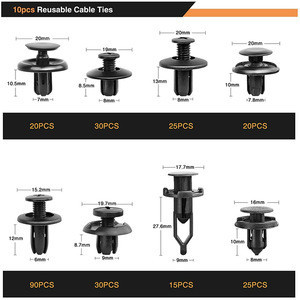 635Pcs Car Push Retainer Clips & Auto Fasteners Assortment