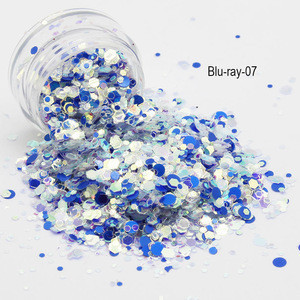 Blu-ray Chunky Glitter for Festival Beauty Makeup Face Body Hair Nails