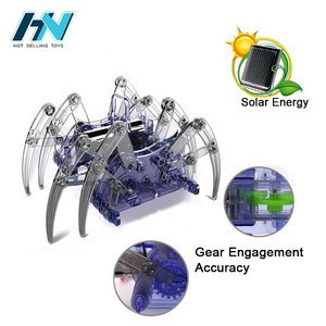 Custom make your own electronic solar dancing spider toy educational solar robot toys