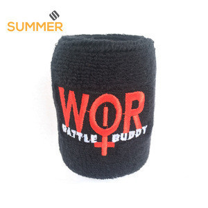Custom Sport Running Yoga Headband Elastic Cotton Wristband Terry Cloth Fabric Head Sweat Band Design Embroidered Logo Sweatband