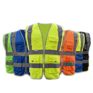 Customized Safety Clothing Printed Logo Free Construction Nylon Polyester Vest