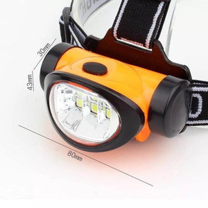 Factory Outdoor Waterproof 3W SMD High Power AAA Battery Powered LED Camping Headlamp