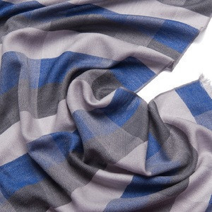 Fashion design check pattern wool scarves cashmere scarf high quality mens scarf