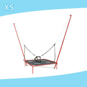 Fitness mini trampoline for kids girls and boys single bungee cheap trampoline games bed cheap