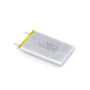 Flexible dimension 3.7v 6000mah lipo lion polymer battery for notebook computer