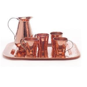 Good product Sertodo Copper Veranda Set, Hand Hammered 100% Pure Copper