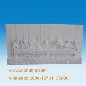 Hand Carved Decorative Artificial Stone Venus Birth Relief