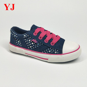High quality kid's children's jeans canvas sneaker rubber vulcanized Shoes