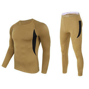 Men's Outdoor Tactical Clothing Military Sport Long Johns Thermal Underwear Set