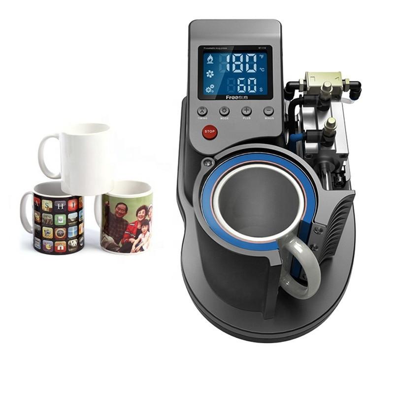 Mini Mug Heat Transfer Pneumatic Baking Cup Machine Vertical Type For Mugs Design Printing