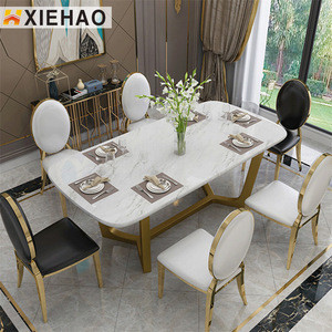 Modern Square Design marble dining Table,  dining table set modern, restaurant table dining