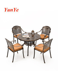 Outdoor cast aluminum tables and chairs outdoor courtyard tables and chairs iron leisure three to five sets of garden outdoor