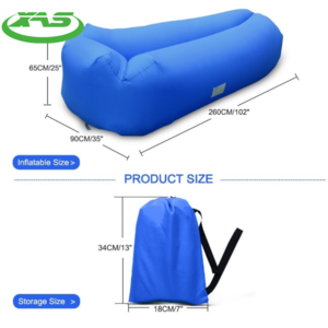 Outdoor sports fast inflatable air lazy, portable beach lazy air bed sleeping bag