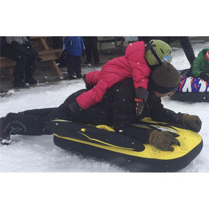 Popular plastic inflatable snow sledge tube, inflatable snow sled for sale