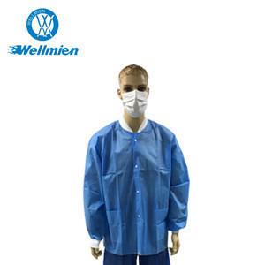 PP Non Woven  Disposable Visitor Hospital Uniform Lab Coat