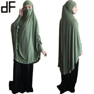 Ready to ship ethnic telekung prayer thobe kaftan dubai robe kimono caftan muslim hijab dress abayas for women islamic clothing