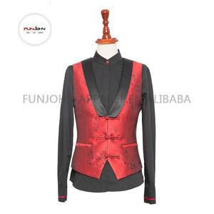 Red wine uniform spa restaurant bar waitress casino uniform set for food & beverage casino department
