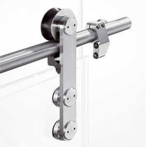 Stainless steel frameless glass sliding door rollers,sliding glass door