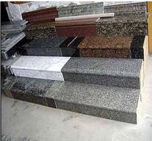 Stone handrail stairs