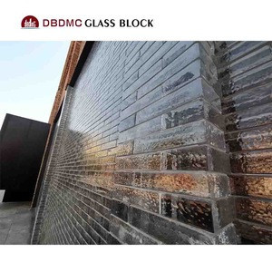 Super white glass block for building project / hot sale luxury glass brick crystal glass block for Partition Wall