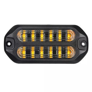TIR 6 Surface Mount Grille LED Strobe Light for Police  Cars Construction Trucks, Service Vehicles, Plows, Emergency Vehicles