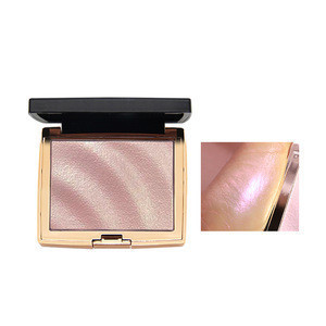 Wholesale own brand stereo high disc compact cake box shiny pearl powder highlights powder