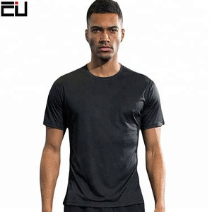 Wholesale Quick Dry Polyester Sports Tee Shirt Any Logo Custom Mens T Shirt Printing