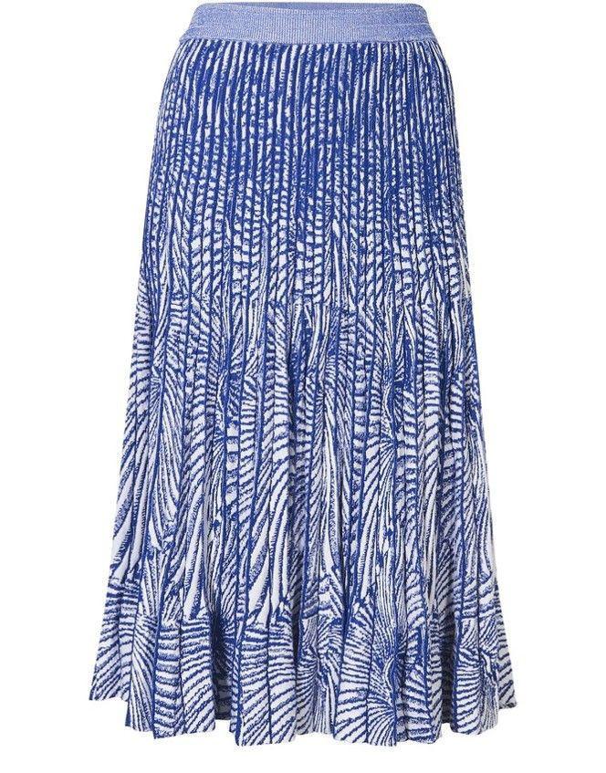 Chiffon skirt with lining