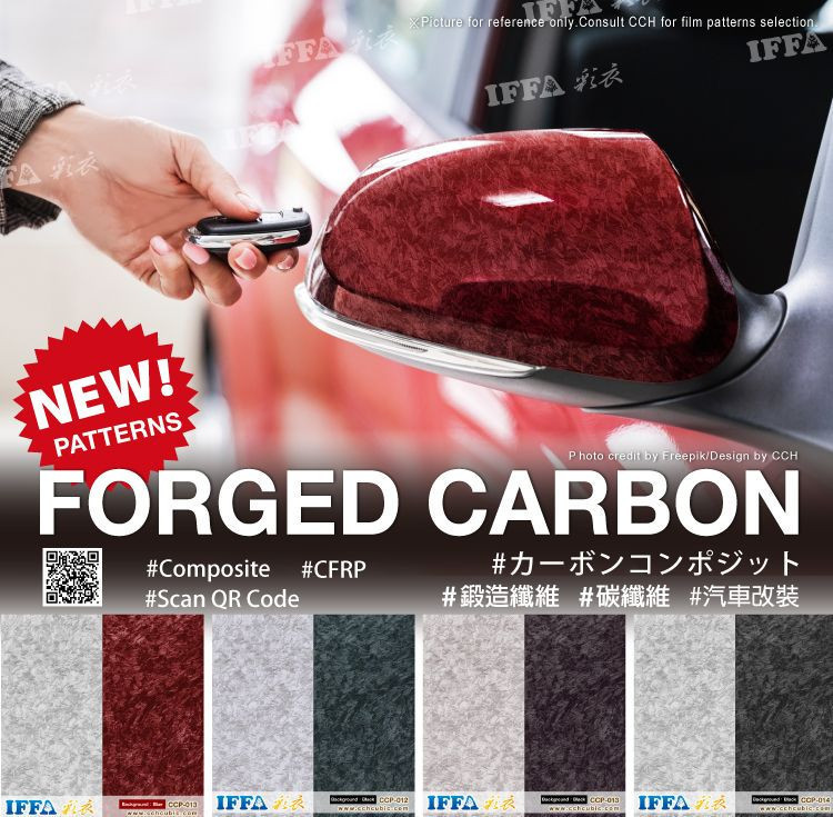 Water transfer printing film-Forged Carbon