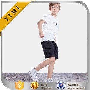 2017 children simple shorts boys cargo shorts wholesale