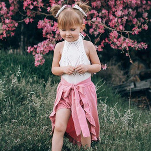 2018 Newborn Kids Girls Bowknot Ruffle Swallowtail Skirt +Shorts Outfit Set Clothes 2pcs Autumn Baby Clothing