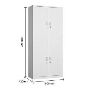 4 Door Stainless Steel Locker Knockdown Structure Commercial Furniture