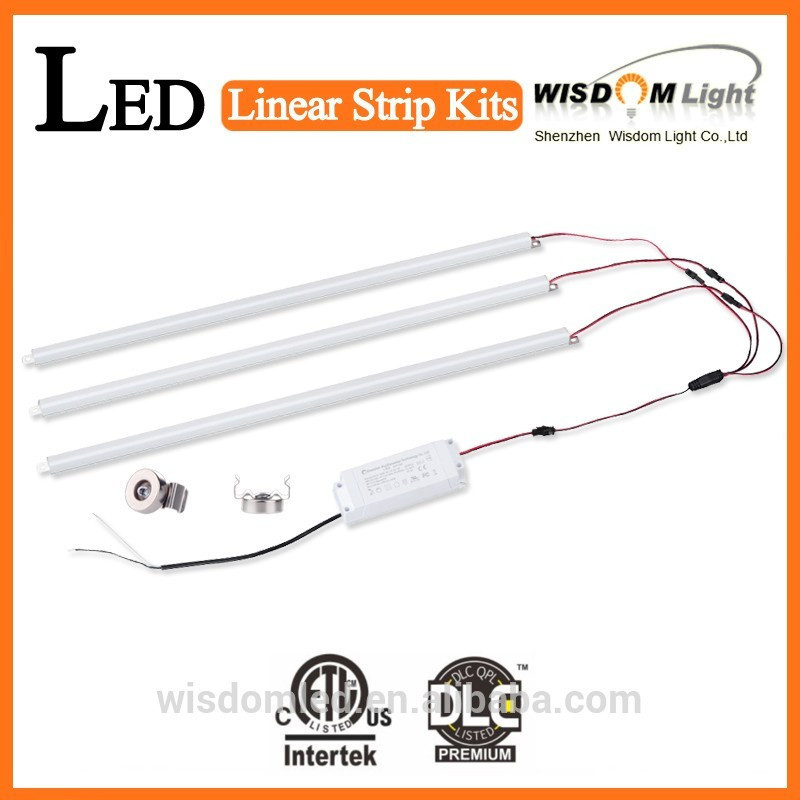 40W 5150LM 2 Magnetic Mount LED Strips and 1 Magnetic Mount Driver 2' X 4' LED Troffer Retrofit Kit