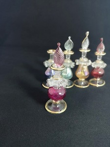 5 ML Hand Blown Glass Perfume Bottle
