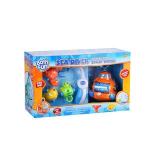 Baby shower time water spray bath fishing toy with submarine