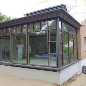 China aluminum low-e sunrooms summer house portable sunroom