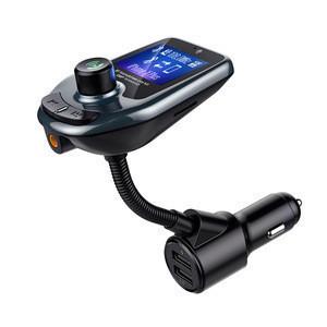 D4 FM Transmitter Audio Car MP3 Player FM Modulator Bluetooth Handsfree Car Kit with LCD Display QC3.0 USB Car Charger