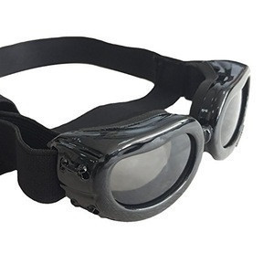 Dog Sunglasses Dog Goggles Adjustable Strap for Travel Skiing and Anti-Fog