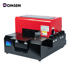 DOMSEM UV Flat Printers For Photo A4 LED Printer For Phone Case Leather Plastic Leather PVC Metal Emboss Printing Factory Direct