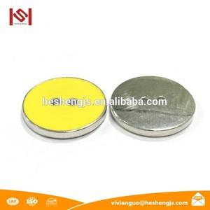 Dull Brass plastic button making machine Shank Button