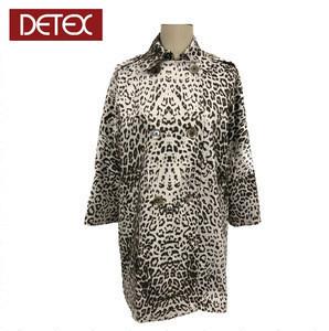 Factory Custom 100% Polyester Animal Print Trench Coat Women