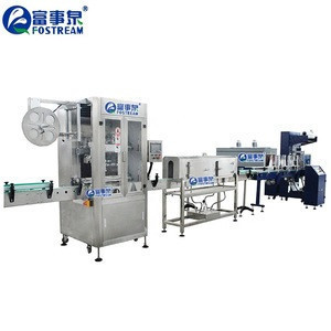 Factory Price Automatic Small Plastic PET Mineral Water Bottle Labeling Machine / Shrink Sleeve Labeling Machine