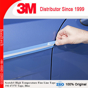 High Temperature Fine Line Tape 3M 4737T, Translucent Blue, 5.4mils