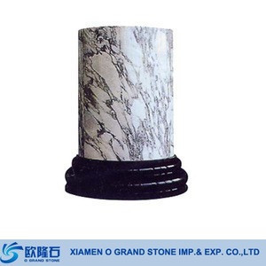 Hollow Pedestals and Columns Outdoor Roman round pillars marble column