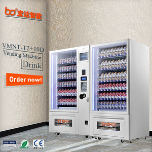 Hot and cold coffee drinks vending machine/sandwich egg fruit belt and lift vending machine