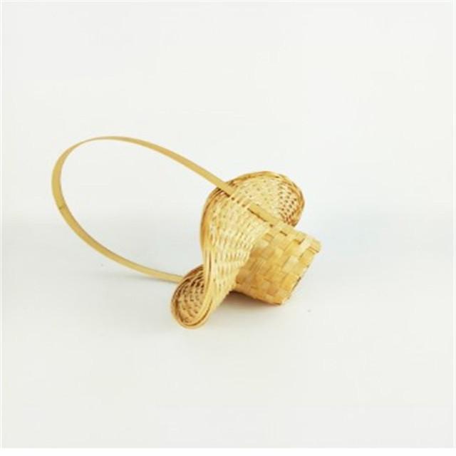 Hot Sale  Small Bamboo Basket Decoration Craft Wicker Flower Basket