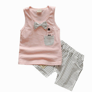 Kids Clothes Baby Boy Summer Clothes Set Tank Top + Jeans Shorts Childrens