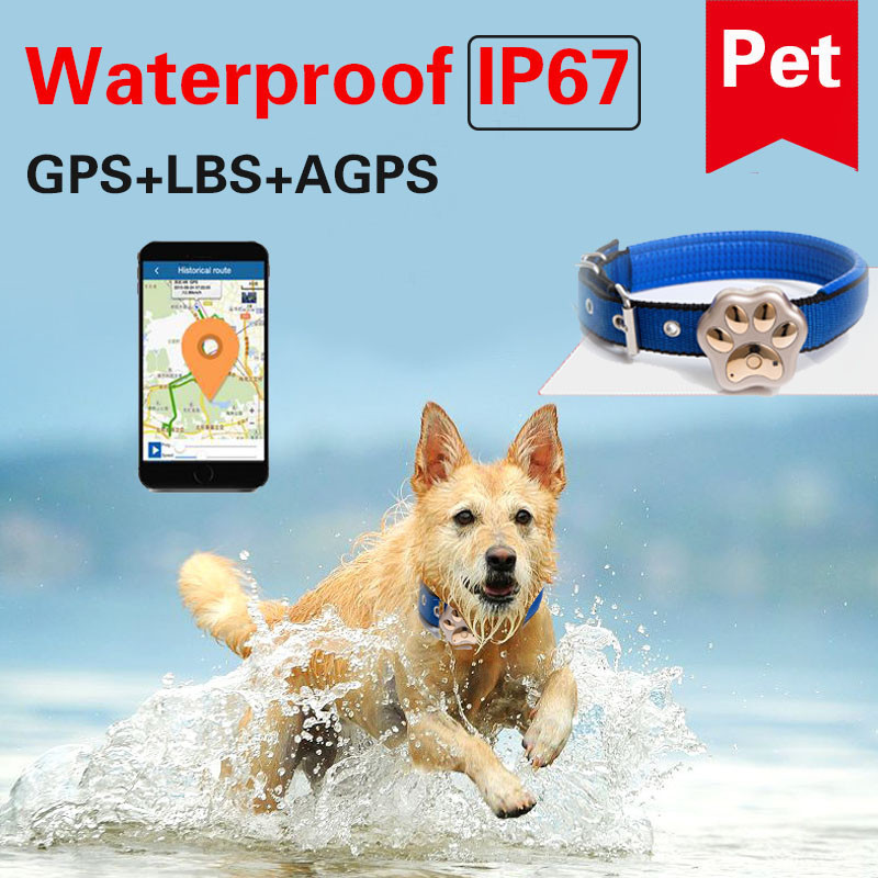 Mini GPS Tracker RF-V30 Animal Pets Tracker Waterproof Anti-lost Locator Box Optional Smart Locator Geo-fence Voice Monitoring