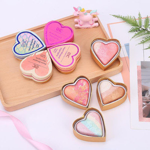 New Arrival Heart-shaped Pearly lustre/earth tone Blusher Cosmetics